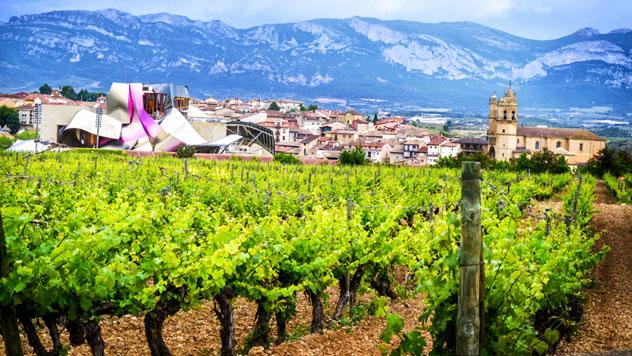Bodegas Marqués de Riscal en Elciego, Álava, España © Valikdjan / Shutterstock