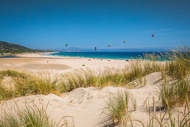 Playa de Valdevaqueros, Tarifa, Cádiz, Andalucía, España