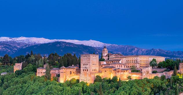 Europa en invierno: la Alhambra de Granada y Sierra Nevada, Andalucía