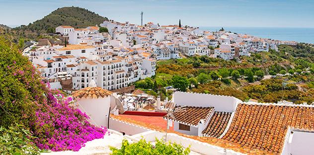 Frigiliana, Málaga, pueblo del interior de Andalucía, España