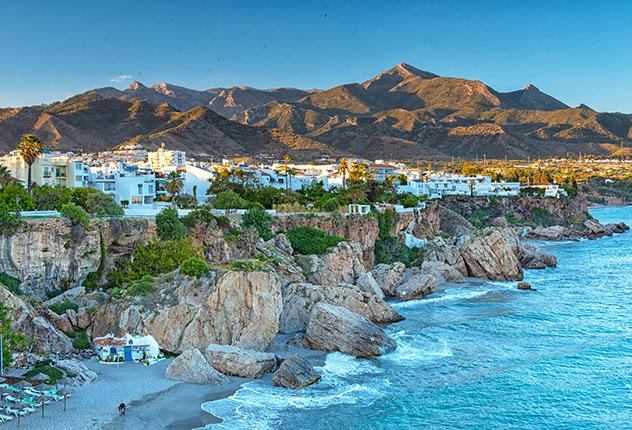 Nerja, pueblo de costa de Málaga, Andalucía, España