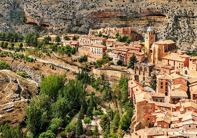 Albarracín, Teruel, pueblo del interior de Aragón, España