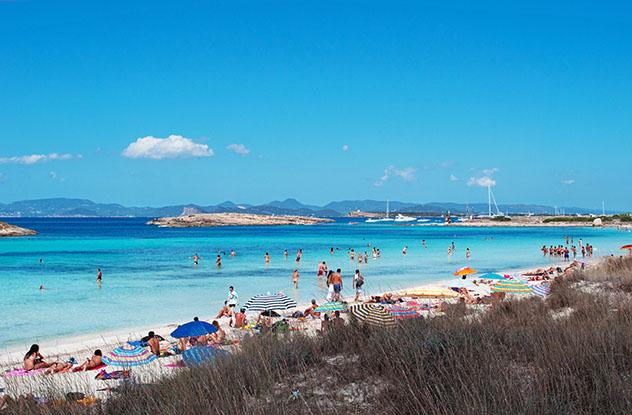 Playa de ses Illetes, en la Península de Es Trucadors, Formentera, Baleares, España