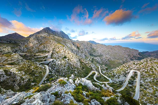 Carretera de Europa: carretera Sa Calobra, Mallorca, España