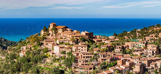 Deià, pueblo de costa de Mallorca, Baleares, España