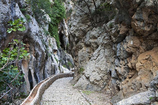 Barranc de Biniaraix, Ruta de piedra en seco, Mallorca, Baleares, España