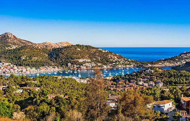 Port d'Andratx, inicio Ruta de piedra en seco, Mallorca, Baleares, España