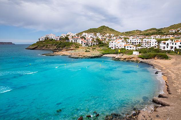 Fornells, pueblo de costa de Menorca, Baleares, España