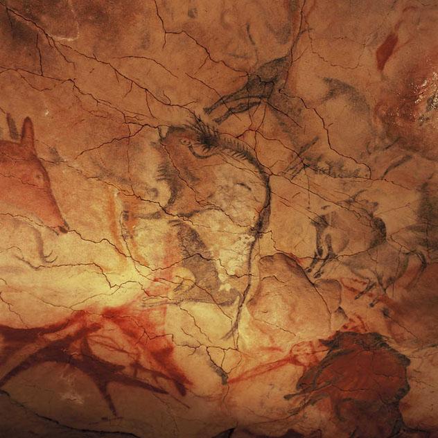 Pintura rupestre, cuevas de Altamira, Cantabria, España © UNESCO