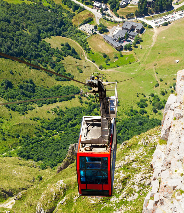 El funicular de Fuente Dé, Picos de Europa, Cantabria, España © Jose Ignacio Soto / Shutterstock