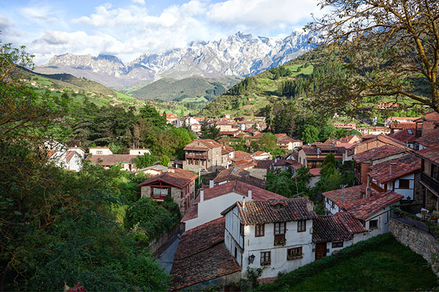 Potes, pueblo del interior de Cantabria, España