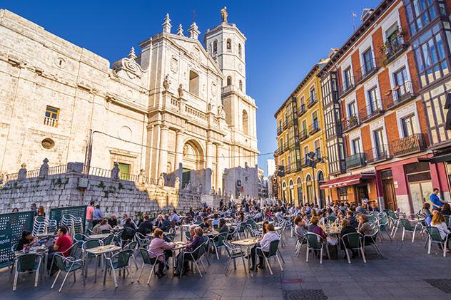 Plaza de la catedral de Valladolid, provincia de Valladolid, Castilla y León, España