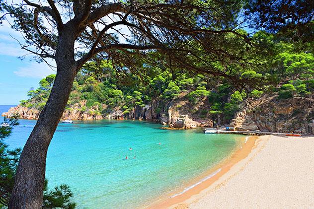 Playa de Aiguablava, Costa Brava, Girona, Cataluña, España
