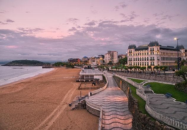 Playa de El Sardinero, Santander, provincia de Cantabria, Cantabria, España