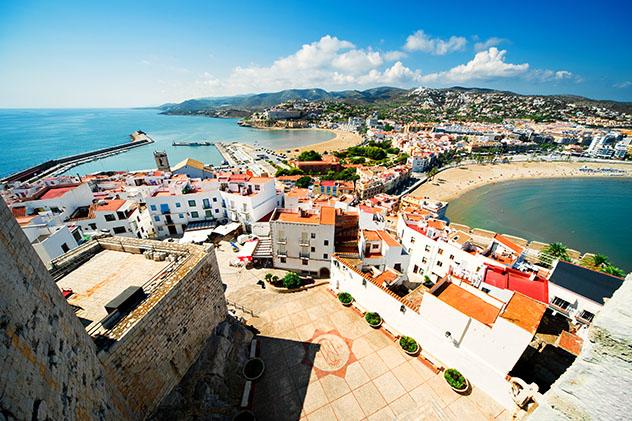 Peñíscola, pueblo de costa de Castellón, Comunidad Valenciana, España