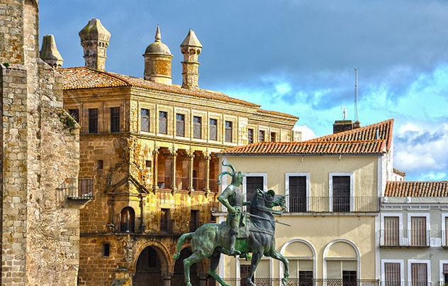 Trujillo, Cáceres, pueblo del interior de Extremadura, España
