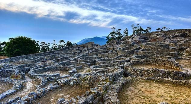 Yacimientos arqueológicos en Galicia: castro de Santa Trega, Galicia