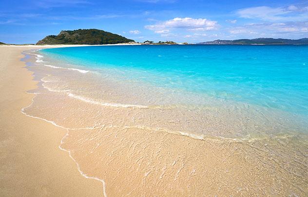 Playa de Rodas, islas Cíes, Parque Nacional das Illas Atlánticas, Galicia