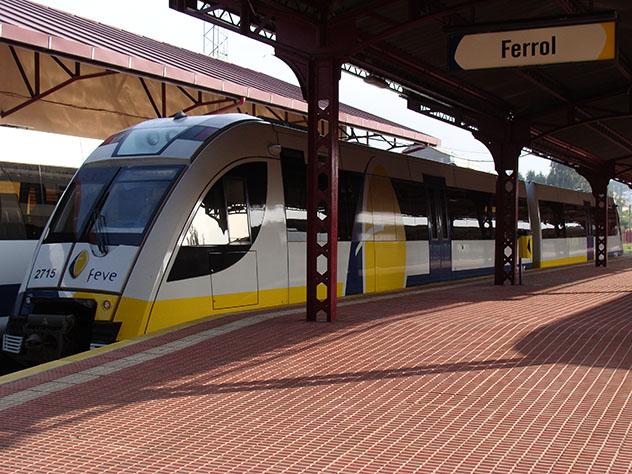 Estación de tren de Ferrol, Galicia, España