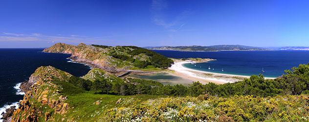 Paisajes de Galicia: Parque Nacional das Illas Atlánticas, islas Cíes, Galicia, España