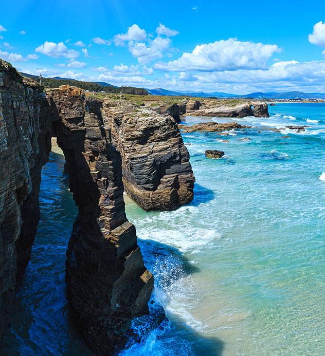 Playa de Galicia: playa As Catedrais, Ribadeo, Galicia, España