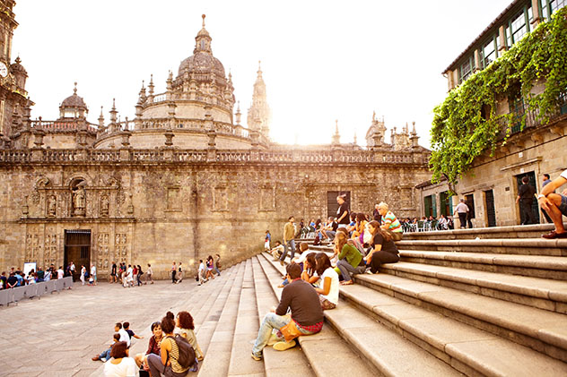 Santiago de Compostela, Galicia, España por carretera