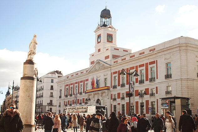 Puerta del Sol de Madrid, España