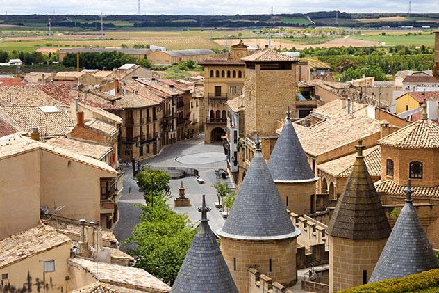 Olite, pueblo del interior de Navarra, España