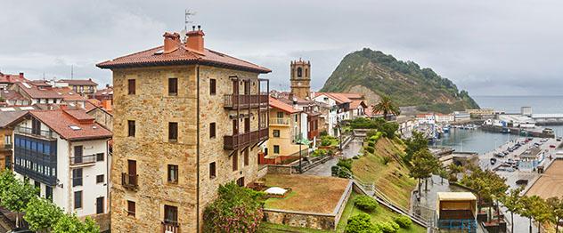 Getaria, pueblo de costa de Guipuzkoa, País Vasco, España