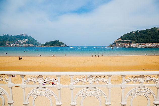 Playa de la Concha, San Sebastián, Guipúzcoa, País Vasco, España
