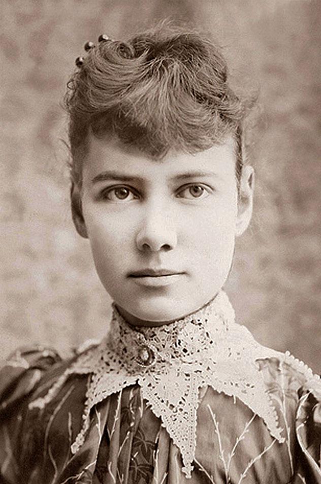 Fotografía de Nellie Bly, seudónimo de Elizabeth Cochrane Seaman, c. 1890