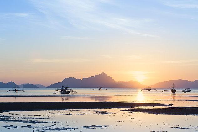 Puesta de sol en el archipiélago de Bacuit, en Palawan, Filipinas, Top 08 de Best in Asia Pacific 2019, los 10 mejores destinos de Asia-Pacífico