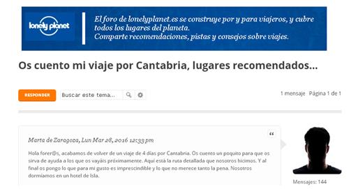 Foro Lonely Planet España: Cantabria