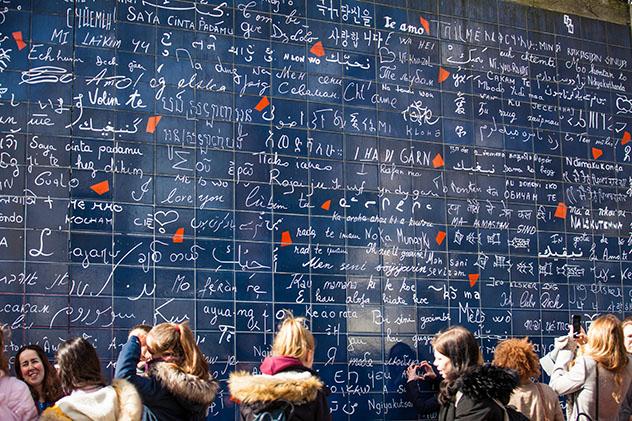 Le mur des je t'aime, París, Francia