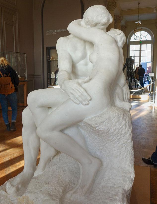 'El beso' de Rodin, Musée Rodin, París, Francia