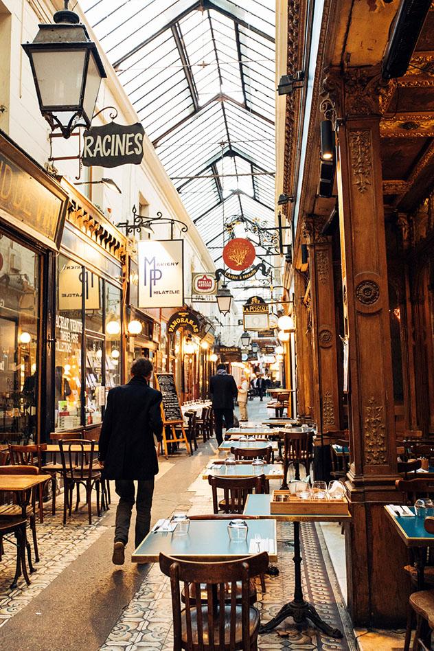 Passage des Panoramas, París, Francia