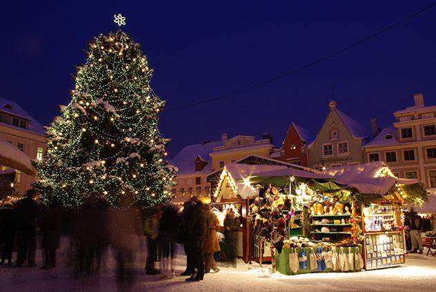 Mercadillo navideño en Tallin