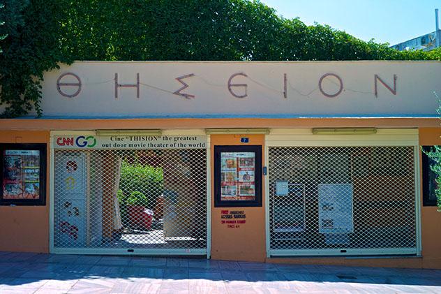 El Cine Thisio de Atenas, al aire libre, está considerado uno de los mejores cines del mundo, Grecia © John A. Rizzo / Getty Images