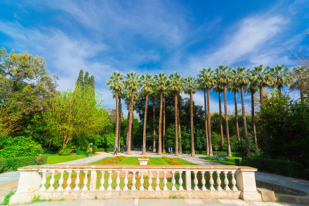 Los céntricos Jardines Nacionales de Atenas fueron diseñados por la reina Amalia, Atenas, Grecia © Georgios Stergiopoulos / Shutterstock