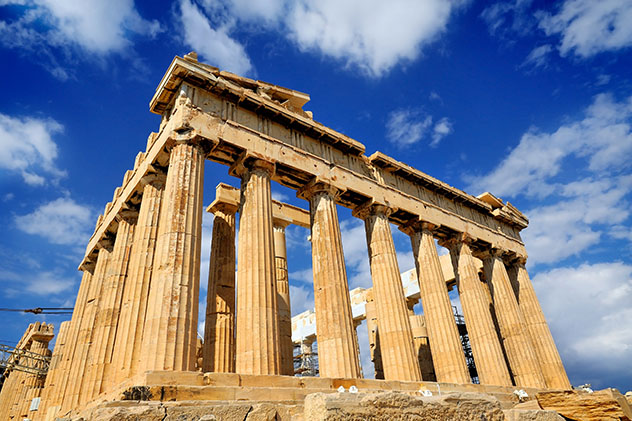 Europa en invierno: Partenón de Atenas, Grecia