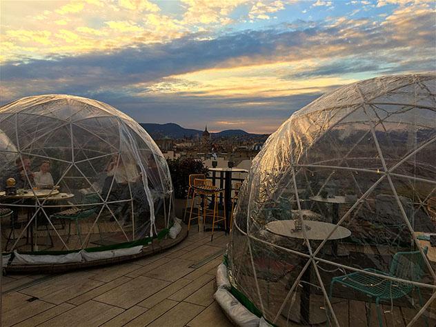 Vistas de Budapest desde el bar de azotea 360Bar