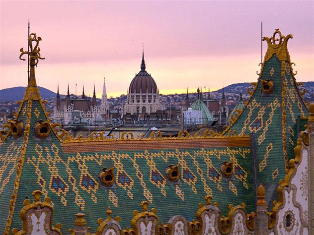 Vistas de Budapest dede el bar de azotea Intermezzo Rooftop Terrace