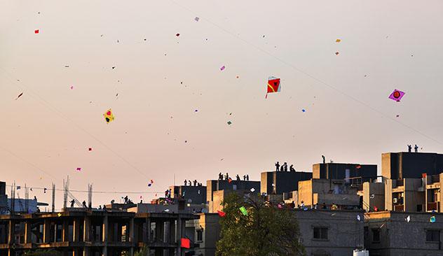 Gujarat: Festival de Cometas de Uttarayan