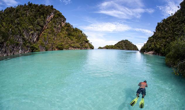 Más de 1500 islas e islotes cubiertos de jungla forman Raja Ampat, Indonesia © Ethan Daniels / Shutterstock