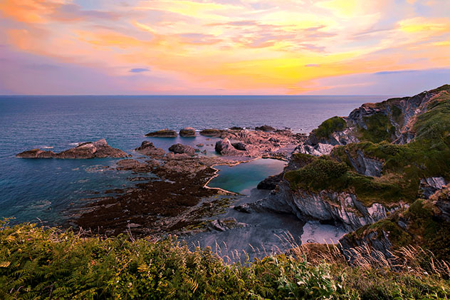 Piscinas oceánicas: Tunnel Beaches, Devon, Inglaterra