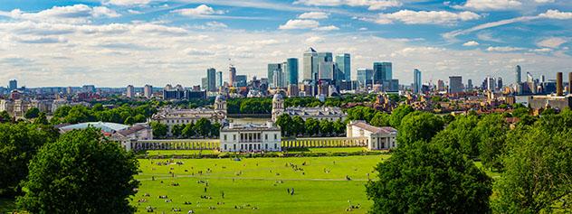 Panorámica desde Greenwich Park, Londres, Inglaterra © Lukasz Pajor / Shutterstock