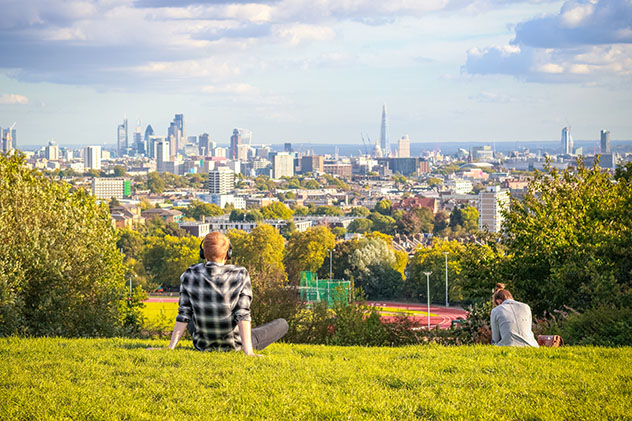 Vistas desde Parliament Hill, Hampstead Heath, Londres, Inglaterra © I Wei Huang / Shutterstock