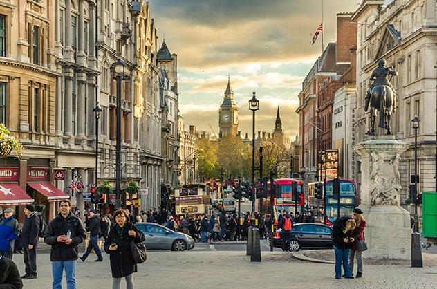 Londres, Inglaterra, última parada del viaje en autobús