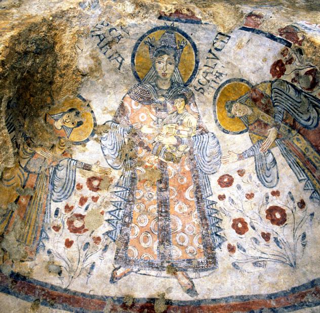 Frescos de la cripta del Pecado Original, Matera, Basilicata, Italia © www.criptadelpeccatooriginale.it