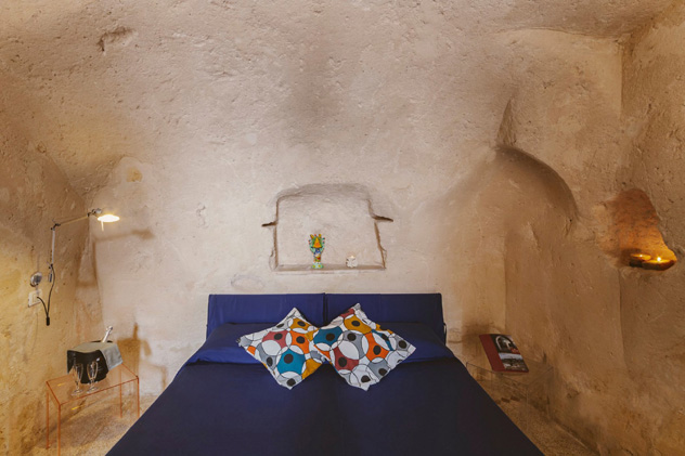 Algunas habitaciones del Hotel Sassi están bajo tierra, Matera, Basilicata, Italia © Hotel Sassi - www-hotelsassi.it